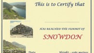 Snowdon Certificate by Brian Smailes Price : £1.45 Celebrate your achievement […]