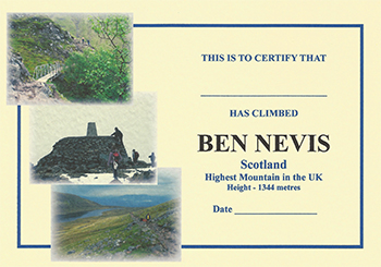 Ben Nevis Certificate by Brian Smailes Price : £1.60 Celebrate your […]